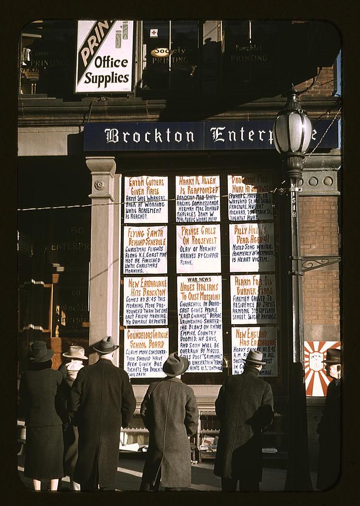 reading news 1940