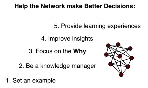 help network make better decisions