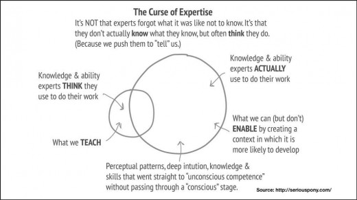 curse of expertise