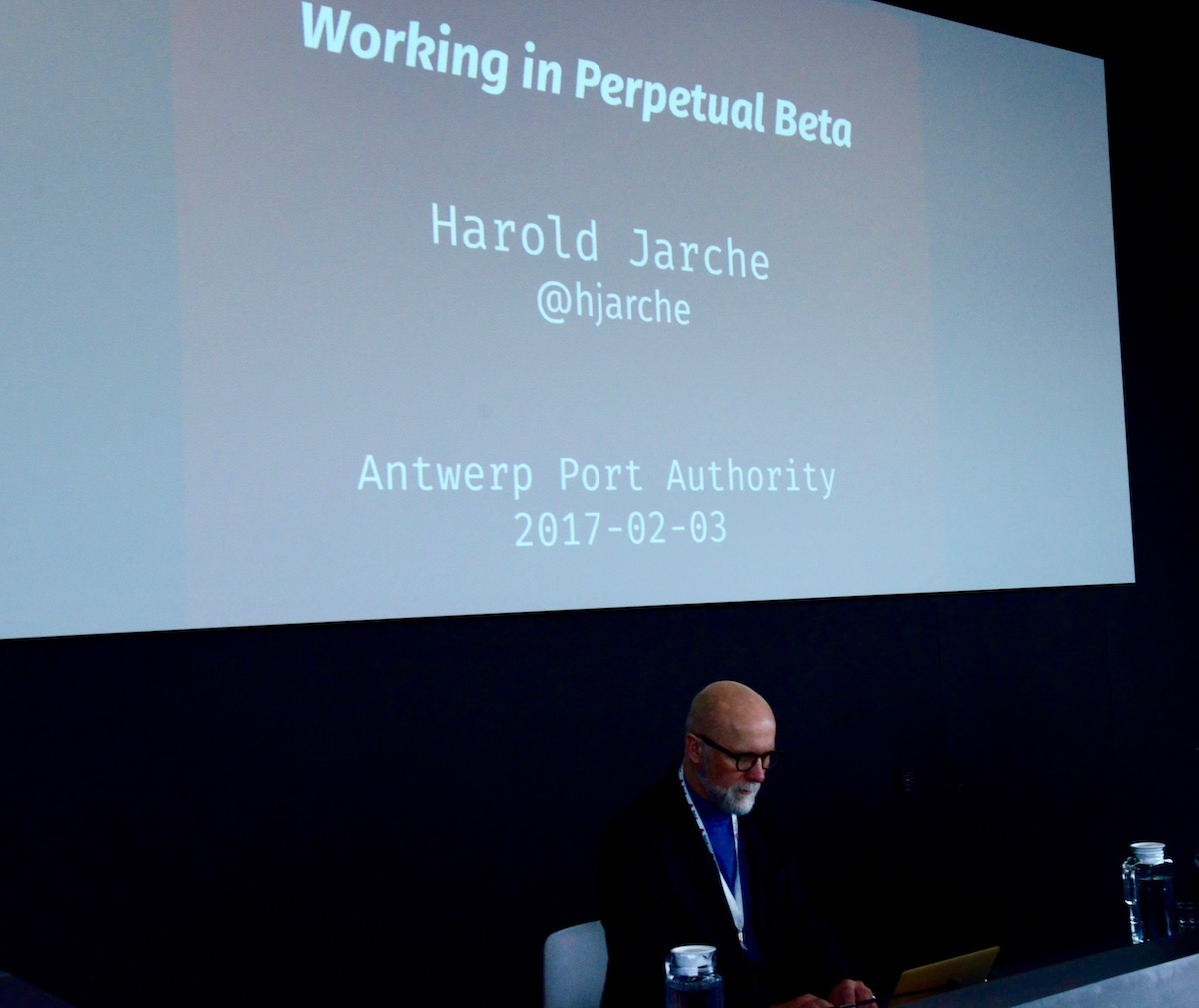 speaking at the antwerp port authority