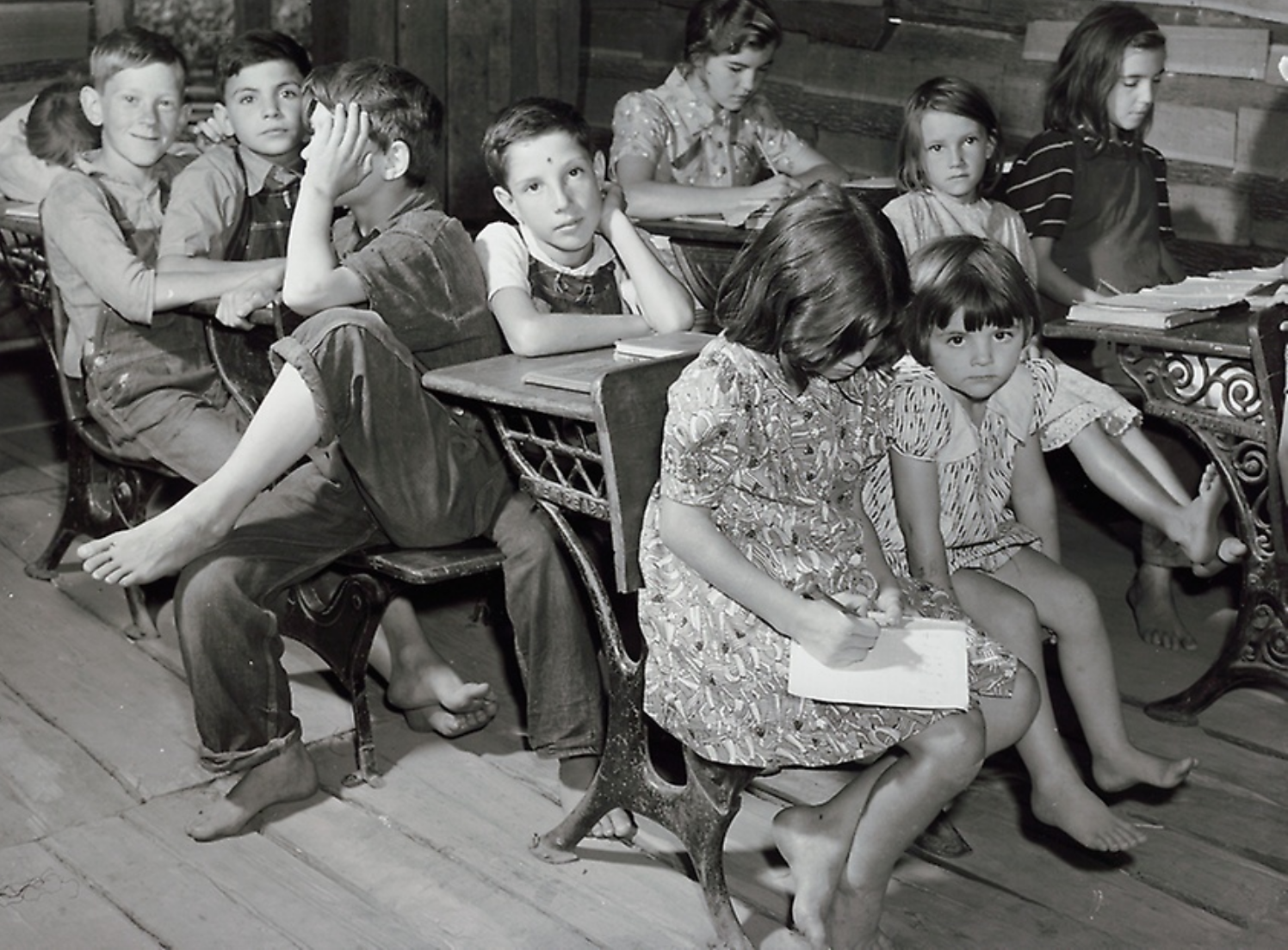 One Room School House, Breathitt County, Kentucky, 1940, Marion Post Wolcott