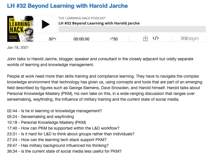 learning hack podcast