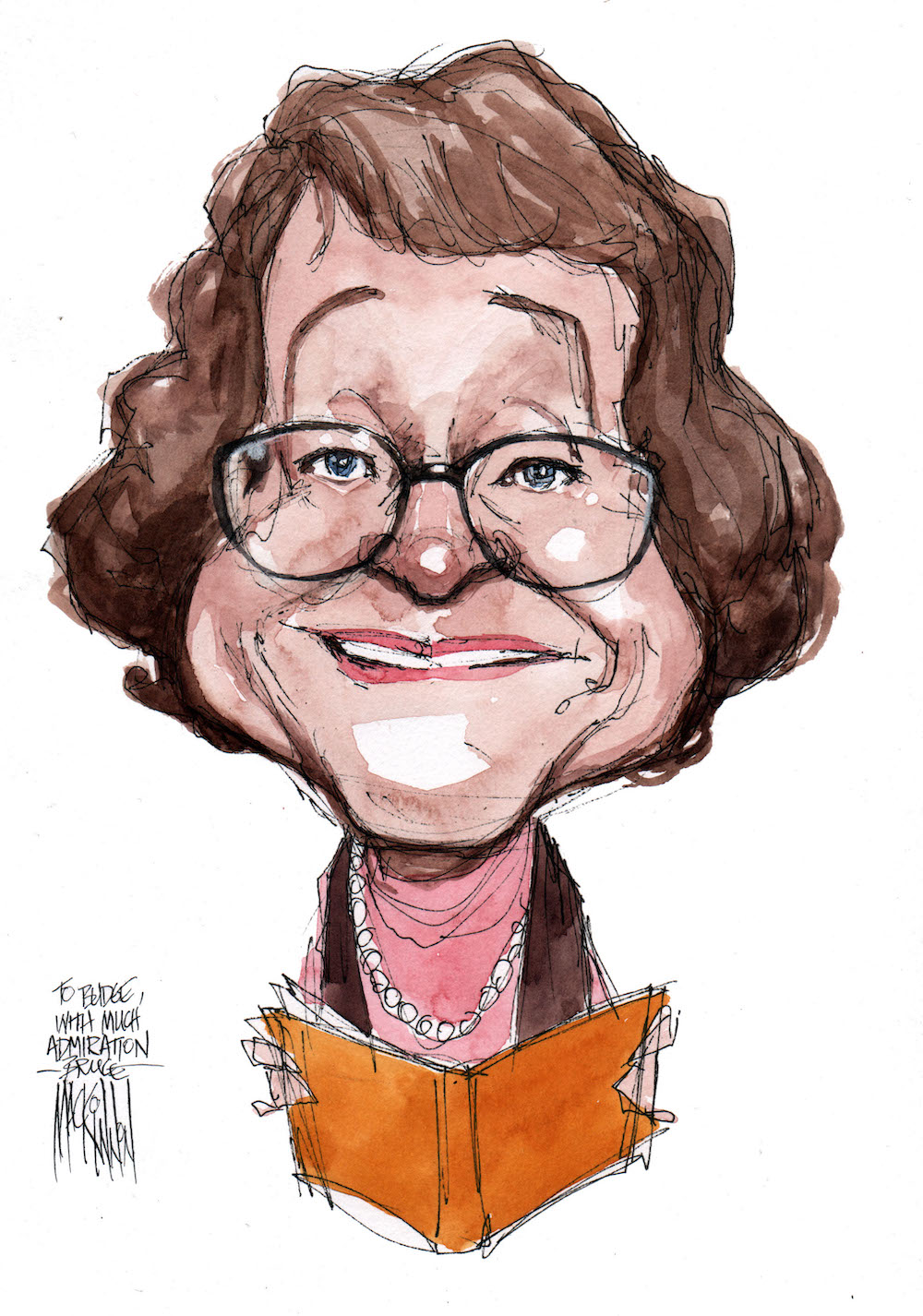 budge wilson caricature
