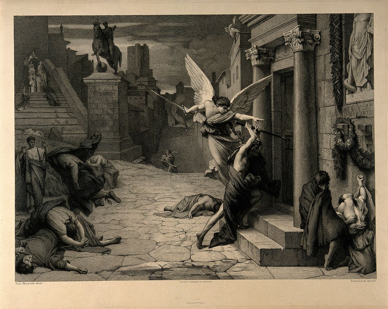 angel of death during plague in rome