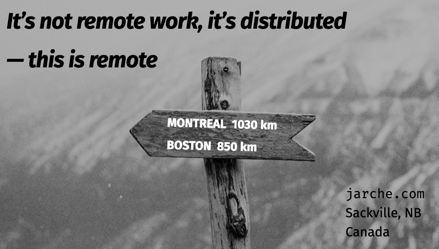 it's not remote work, it's distributed