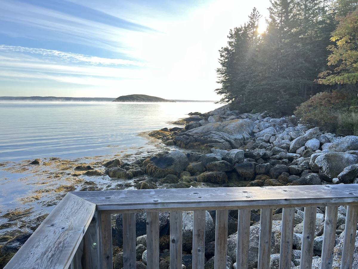 view out from northwest cove nova scotia
